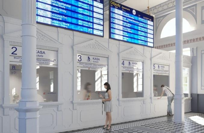 Wizualizacje Dworca Kolejowego w Białymstoku po remoncie