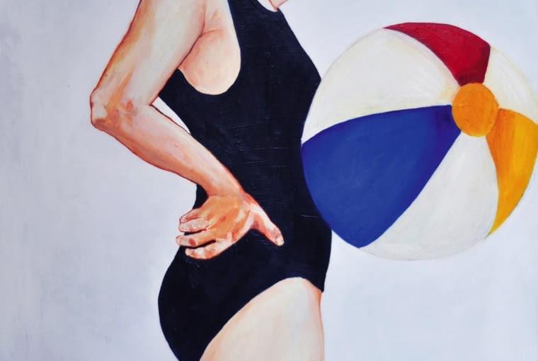 Autoportret, 80 x 100 cm, olej na płótnie, 2014