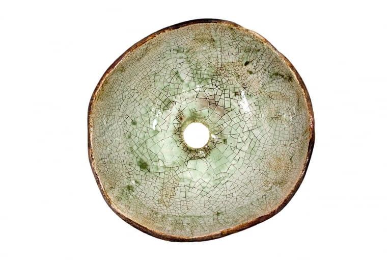 Umywalka nablatowa IRMINA, ceramika, śr. 38 cm, wys. 14,5 cm, 1090 zł, florisa.pl