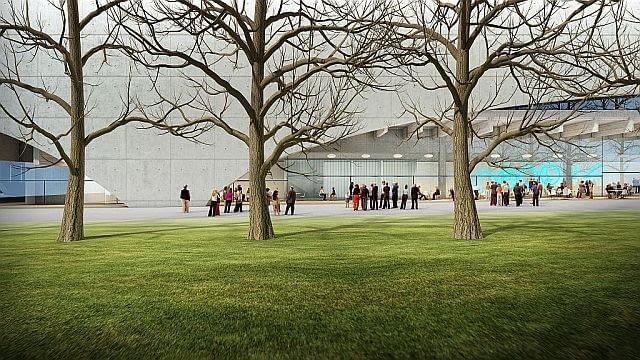 Widok od strony Parku Świętokrzyskiego.