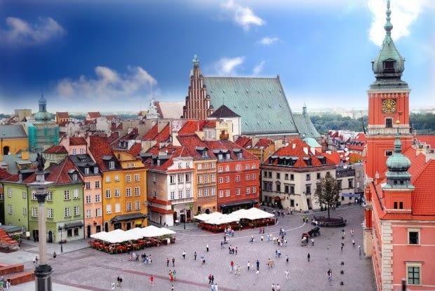Plac Zamkowy w Warszawie. fot. shutterstock