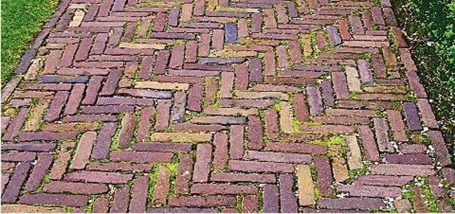 ścieżka z cegły klinkierowej