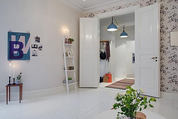mieszkanie w kamienicy, mieszkanie w starej kamienicy, mieszkanie z piecem kaflowym, mieszkanie w skandynawskim stylu
