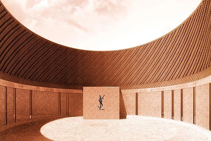Wnętrze muzeum Yves Saint Laurenta - wizualizacja