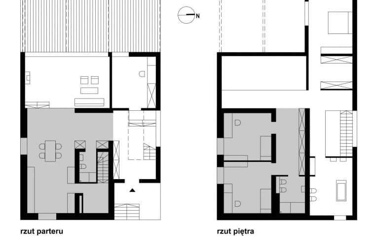 przebudowa kostki, dom kostka, Czarna Kostka - rezultat przebudowy typowego domu jednorodzinnego z lat 70. autorstwa architektów z Kameleon lab