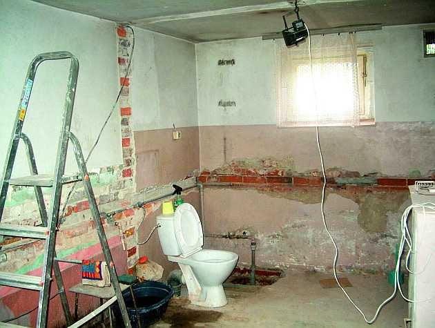 remont starego domu, ściany działowe