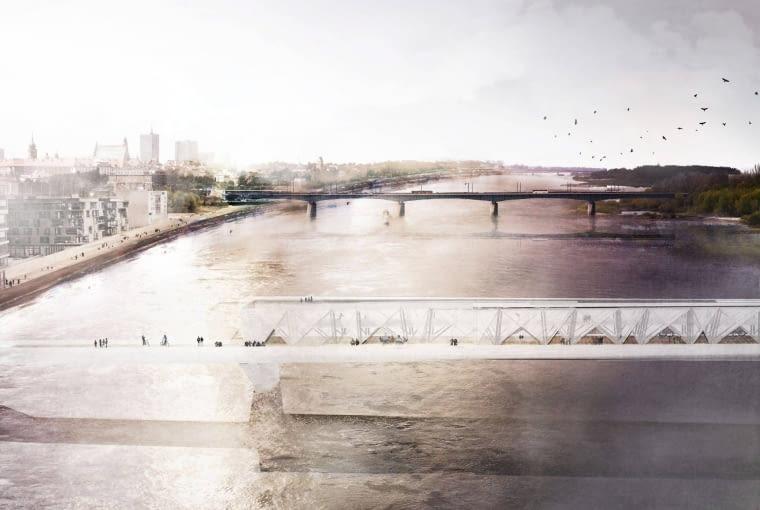 Tak wyglądałaby kładka łącząca prawy i lewy brzeg Wisły według projektu Małgorzaty Dembowskiej