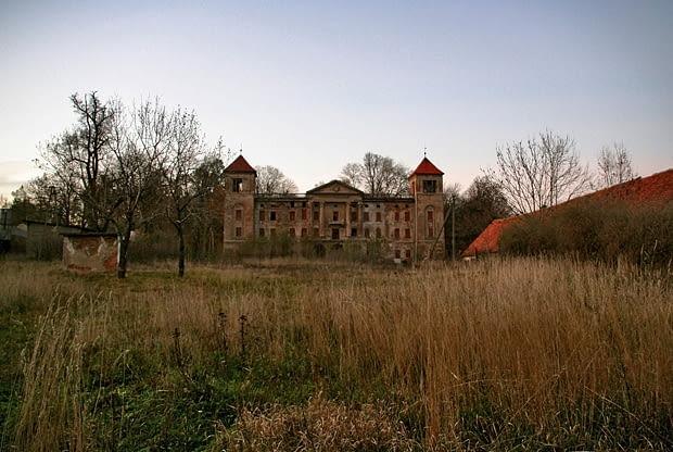 Kluczowa - klasycystyczny pałac rodziny Rust, przebudowany wg projektu K.F. Schinkla z 1837-40 r.