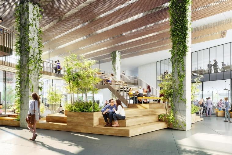 Przestrzenie wspólne w realizowanej przez HB Reavis wielofunkcyjnej inwestycji Agora Budapest