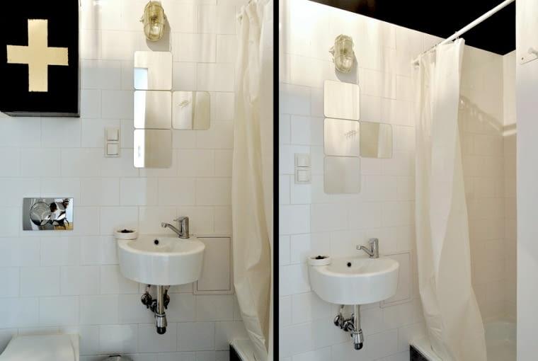 łazienka, wystrój wnętrz, recykling, meble z odzysku.