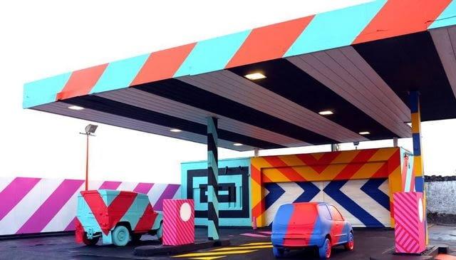 No.27 - A Nod To Ed Ruscha, proj. Maser Art, źródło: www.facebook.com/MASERART