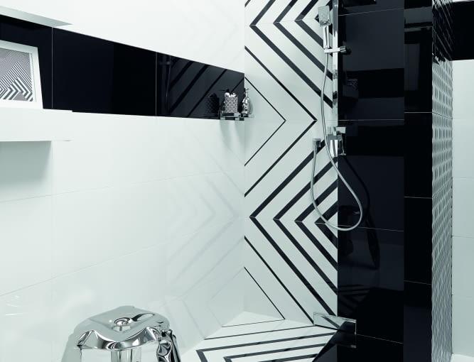 Czarno-biała łazienka to prawdziwy hit.