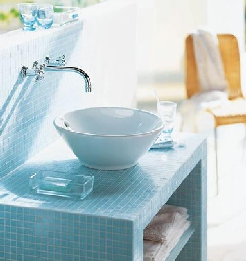 płytki ceramiczne,mozaika,umywalka,łazienka,umywalka nablatowa