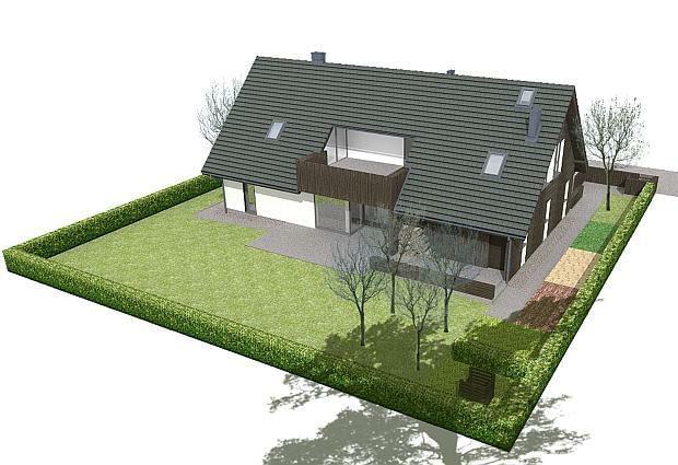 projekty domów, lokalizacja na działce