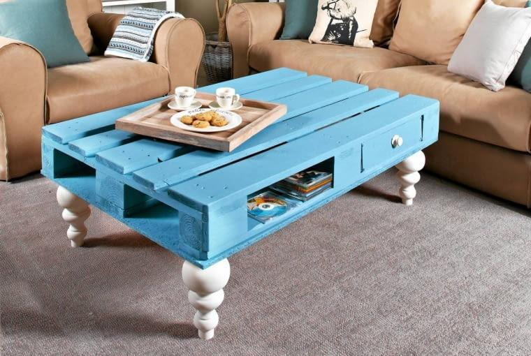 meble z palet, stolik z palet, stolik kawowy