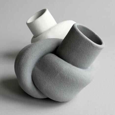 wazon - supeł; projekt: Judith van den Boom i Sharon Geschiere