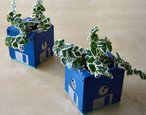 recykling, ogrodowe inspiracje