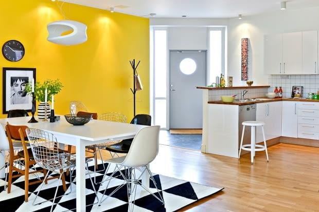 mieszkanie, mieszkanie w skandynawskim stylu, jasne mieszkanie, trzypokojowe mieszkanie