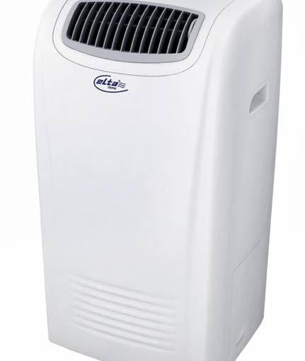 Klimatyzator przenośny EK-09PHXX Elta <Br>Maksymalna wielkość pomieszczenia schładzanego: 25 m2. Urządzenie ma filtr przeciwpyłkowy, przeciwbakteryjny oraz funkcję oczyszczania i ogrzewania powietrza. Moc: 2,6 kW, głośność: 54 dB, cena: 819 zł