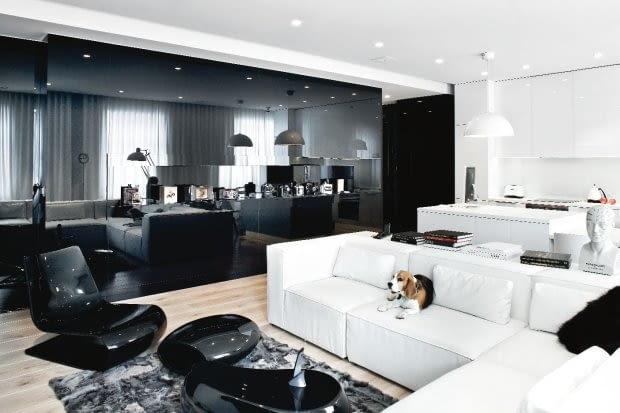 mieszkanie w Warszawie, projektowanie wnętrz, apartament, aranżacje wnętrz