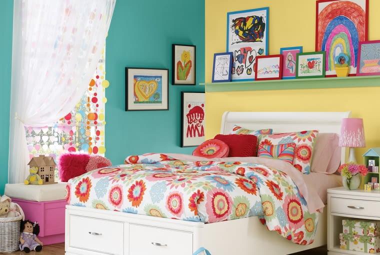 sypialnia, wystrój wnętrz, łączenie kolorów