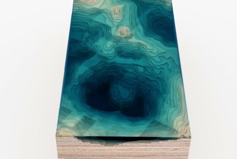 Stoły inspirowane głębią oceanu