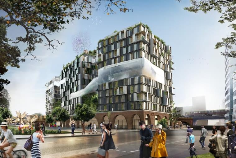Eckwerk Holzmarkt, Berlin, Niemcy, proj. GRAFT i Kleihues + Kleihues, nominacja w kategorii projekty, budynki komercyjne funkcja mieszana. Projekt zakłada budowę pięciu wież zbudowanych na wspólnym ceglanym, łókowym cokole mieszczących dwie dolne kondygnacje. W wieżach znajdzie się część mieszkalna, oraz przeznaczona na miejsca do pracy. Całość zostanie połączona delikatną szklaną strukturą zapewniającą we wnętrzach optymalne warunki także podczas niesprzyjającej pogody.
