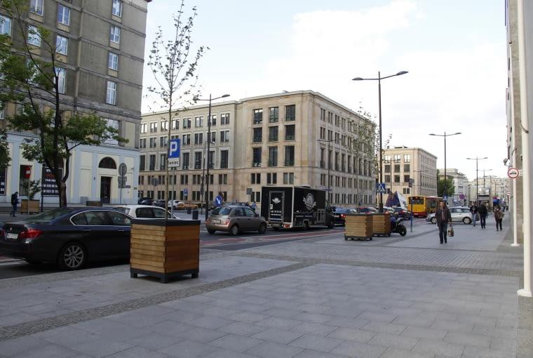 Projekt nowej zieleni na ulicy Świętokrzyskiej w Warszawie - stan istniejący