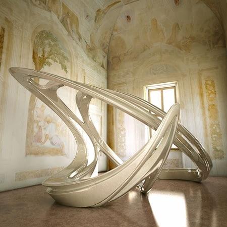 zaha hadid, rzeźba, aura, biennale architektury, wenecja