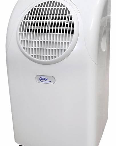 Klimatyzator przenośny AC100 Elta <Br>Klimatyzator do małych pomieszczeń - do 20 m2. Urządzenie ma funkcję osuszania powietrza i filtr węglowy usuwający brzydkie zapachy. Moc: 1,8 kW, głośność 54 dB, cena 729 zł