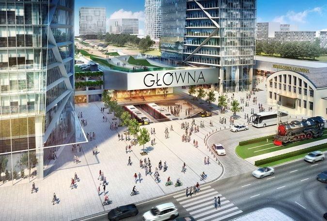 Warszawa Główna - wizualizacja