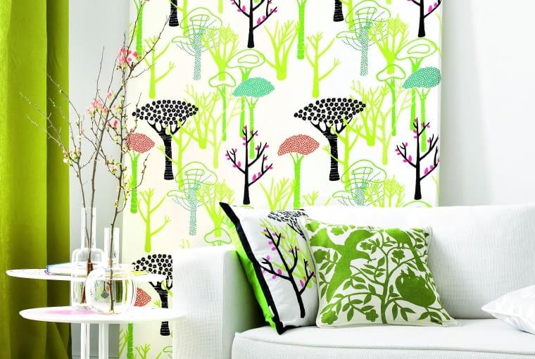 TEMAT PRZEWODNI. Dobrze, gdy różne wzory mają wspólny mianownik - może je łączyć np. ten sam motyw: las, drzewa, ptaki.