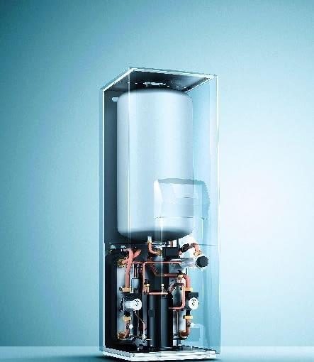 Budowa pompy gruntowej ze zintegrowanym zasobnikiem ciepłej wody