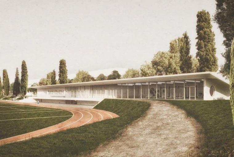 Praca zespołu pod kierownictwem Jakuba Pieńkowskiego, która zdobyła drugą nagrodę w konkursie na koncepcję zagospodarowania okolic stadionu Skry
