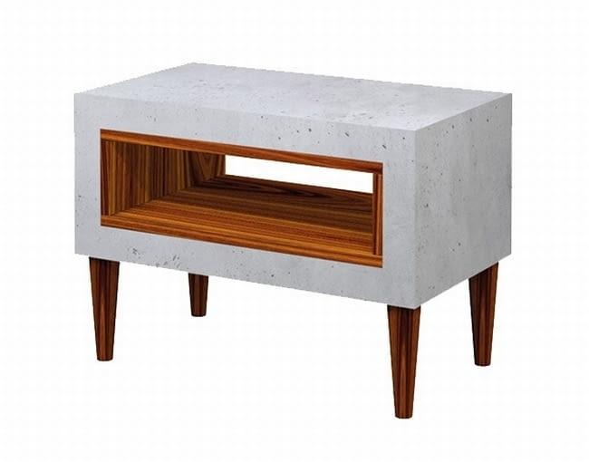 meble z betonu, beton architektoniczny, beton we wnętrzach