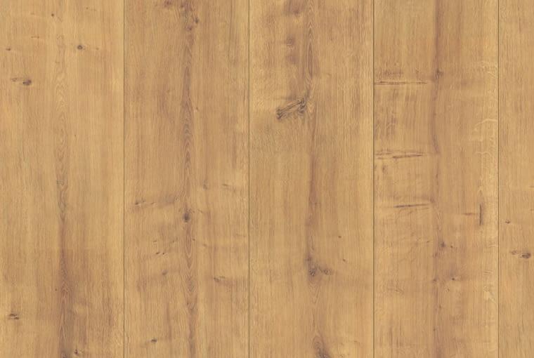 Dąb Arlington/Egger Klasa ścieralności: AC4 format King Size (1291 x 327 x 8 mm) struktura powierzchni: Authentic (autentyczny wygląd i wrażenie) dwustronna fuga profil: UniFit! Cena: 54,90 zł/m2, www.egger.pl