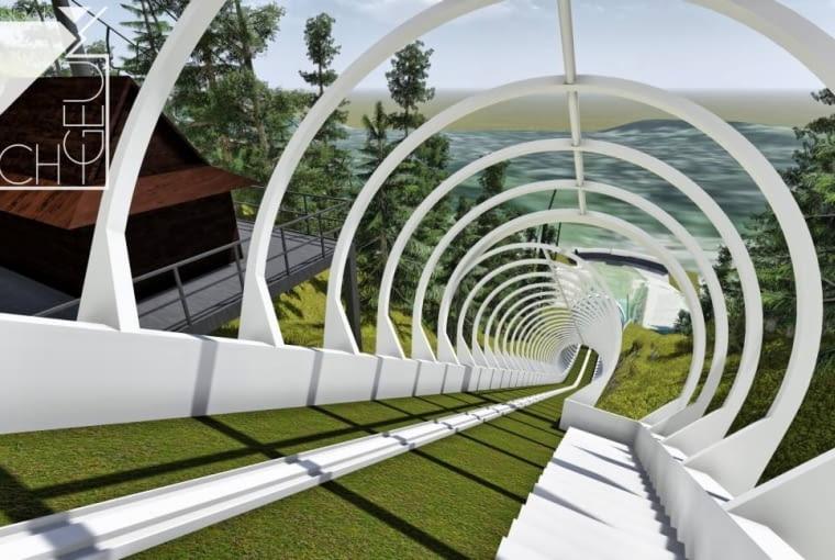 Koncepcja zadaszenia rozbiegu skoczni narciarskiej Wielkiej Krokwi w Zakopanem