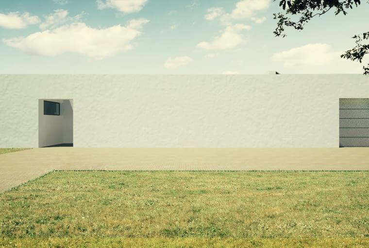 Projekt nowoczesnego domu jednorodzinnego z ogrodem na dachu