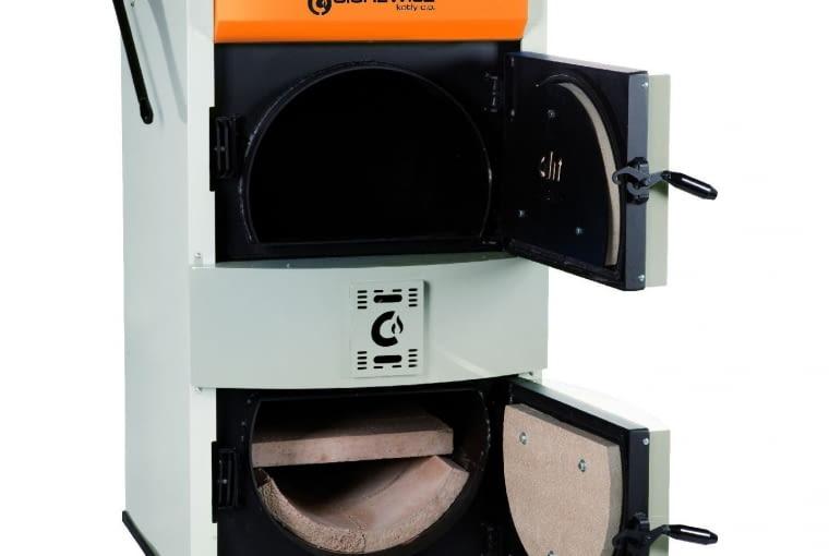 KOTŁY ZGAZOWUJĄCE DREWNO; Sigma/CWD; moc 20kW (wymiennik ciepła ze stali); Cena: 8388 zł
