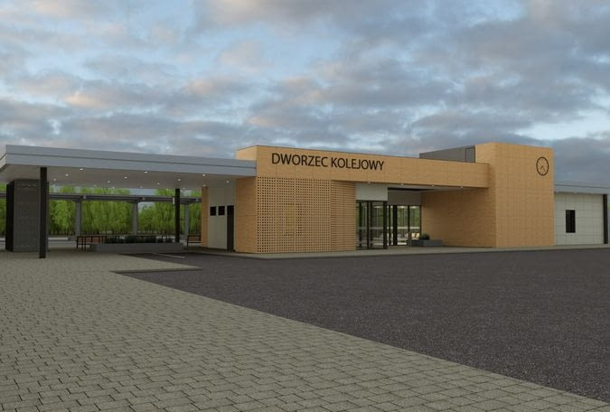 Wizualizacja nowego dworca systemowego w Ciechanowie