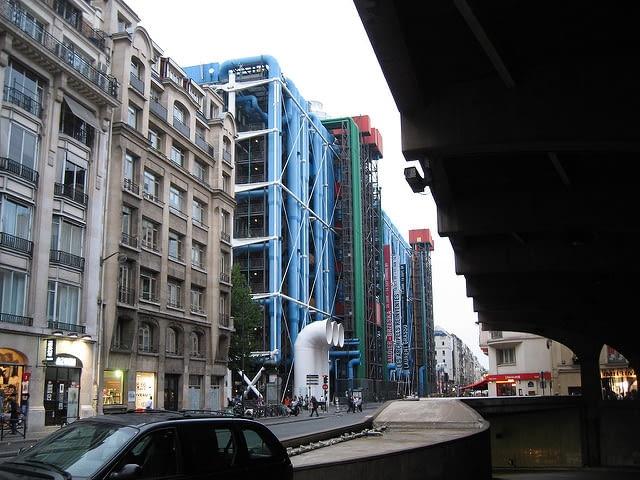 Centrum Pompidou, Paryż, proj. Renzo Piano i Richard Rogers