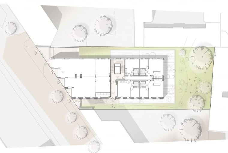 Sprzeczna 4: schemat pokazujący sposób prefabrykacji budynku