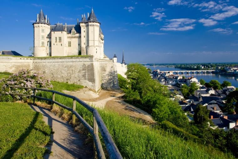 Zamek w Saumur, francja, loara