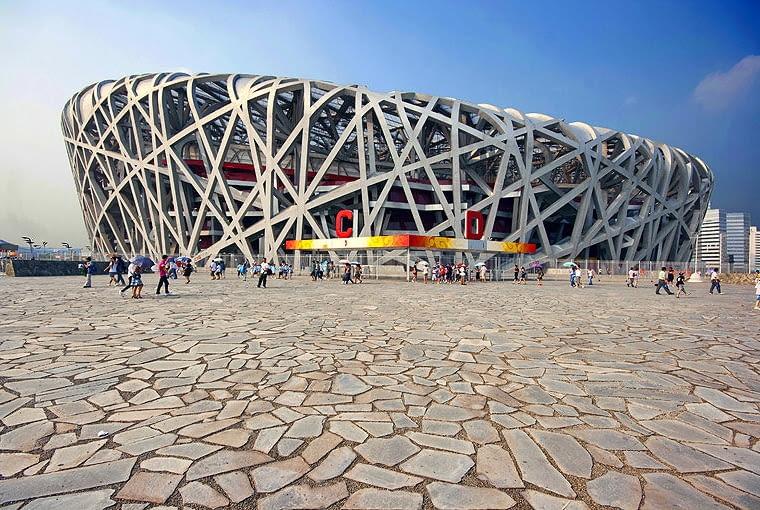 "Pekin stadion ""Ptasie Gniazdo"", proj. Herzog & de Meuron"
