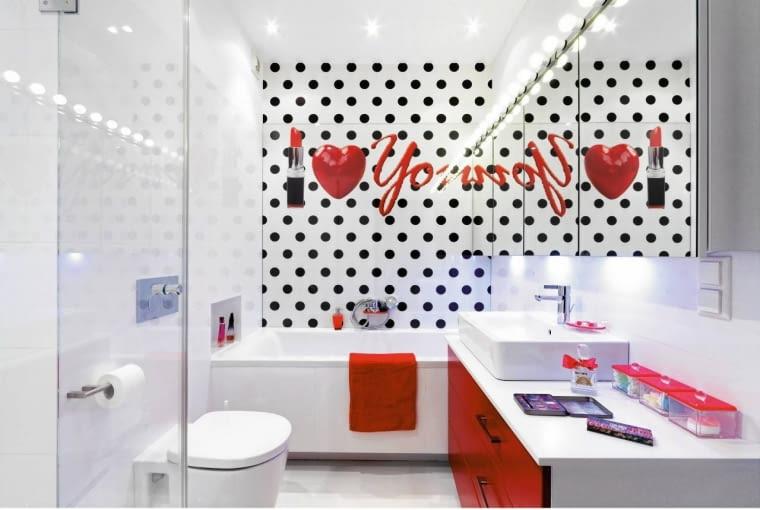 aranżacja łazienki, oświetleni łazienki