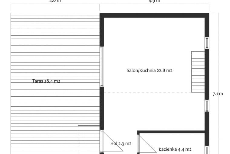Modulo House - rzut parteru