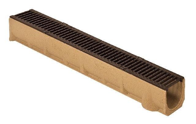 Kanał MEAGARD II S (MEA) z rusztem ocynkowanym; wymiary: 13 cm (szerokość), 11 cm (wysokość), 1 m (długość); 115,9 zł