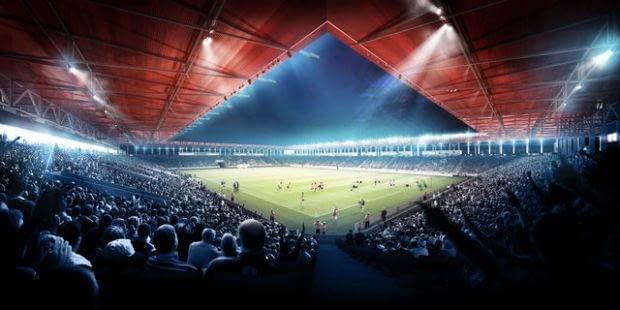 Rafał Barnaś wykonał nominowaną wizualizację kompleksu sportowego w Łodzi, do projektu autorstwa warszawskiej pracowni Jems Architekci i niemieckiego Max Boegl.