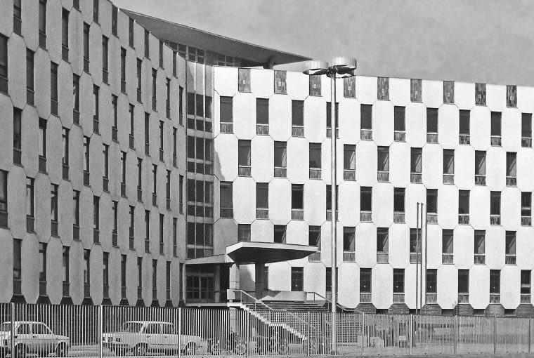 Budynek policji w Częstochowie w 1979 r.