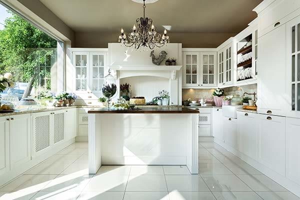 kuchnia w stylu angielskim, kuchnia, meble kuchenne, kuchnia z wyspą